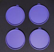 CRAFT STORAGE - 4 NEW Yoplait Oui purple lids fits yogurt jars