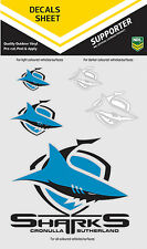 NRL Cronulla Sharks iTag UV Sticker Sheet