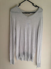 Zara Man Sport Classic, Size M, Grey and white stripped jumper/top, NWT