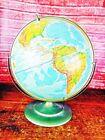 """Vintage/Antique Hammond Shaded relief """"360"""" 12"""" World Globe Ernst G Hoffman"""