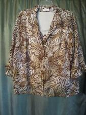 20W ALFRED DUNNER 2 FER BUTTON-DOWN MULTI-COLOR GEOMETRIC POLYESTER 3/4 SLEEVE