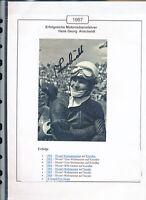 565218 / Motorrad Beleg Autogramm Hans Georg Anscheidt