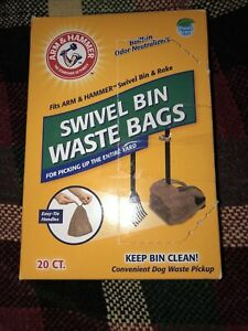 Arm & Hammer 17 Count Clean Swivel Bin Disposable Dog Poop Bag Waste Strong Bags