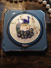 Sterling Peacock Compact Signed E.a.m