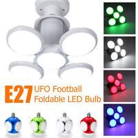 E27 Deformable LED Glühbirne 5 Blatt Faltbar Hohe Helligkeit Fußball Birnen