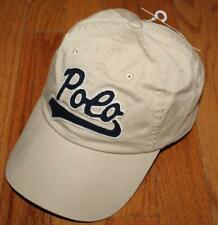 NWT Mens Polo Ralph Lauren Baseball Hat Cap Pony Logo Adjustable Strap Khaki *W9