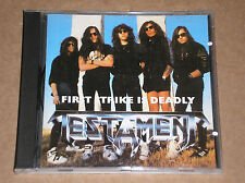 TESTAMENT - FIRST STRIKE IS DEADLY - RARO CD LIVE