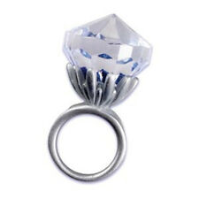 6 Pack  Chunky Faux Diamond Engagement Ring Favor Prop FUN!