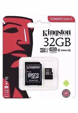 Kingston Micro SD SDHC memory Card Class 10 with SD card Adapter 100% 32GB New