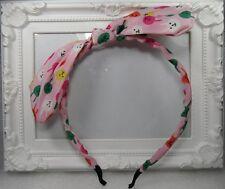 diadema adorno para el pelo orejas de conejo tela rosa niña mujer fiesta