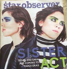 Star Observer MAGAZINE January 2017 Features Sara And Tegan HAS A TEAR