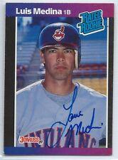 Luis Medina signed 1989 Donruss baseball card, Cleveland Indians autograph #36