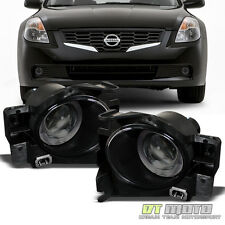 Smoked For 2008-2012 Altima 2Dr Coupe LED Halo Projector Fog Lights Lamps+Switch