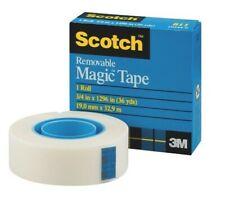 3M Scotch Removable Magic Tape 19mm x 33m REF 8111933 - FREE UK POSTAGE
