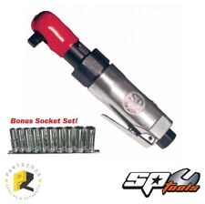 SP Tools 3/8 Mini Air Ratchet Wrench 170mm SP-1762 with Bonus Socket Set