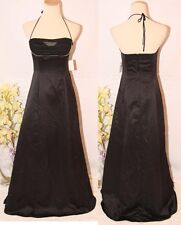NWT Windsor Evening Gown  $130 Black Prom Formal Cruise Dress size 3 Halter Long