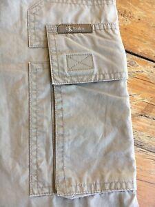 Pantaloni Uomo Vintage Calvin Klein Cotone. Color Caki. W32 L 34