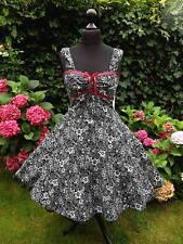 50er Rockabilly Petticoat Pinup Konfirmation Abiball  Abend Kleid 34-54