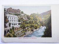 Ansichtskarte  MERAN - Gilfanlagen und Zenoburg um 1920