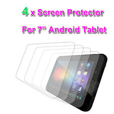 "4 X CLEAR 7"" inch SCREEN PROTECTOR FOR  7'' VERSUS TABLET & 7' CNM TouchPad 7"