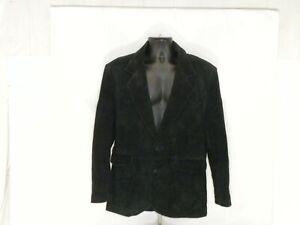 Pioneer Wear Mens Suit Jacket Blazer Sport Coat 42 Long Black Sueded Boar Skin