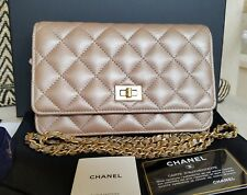 NWT 2018 CHANEL WOC WALLET ON CHAIN CLASSIC REISSUE O-MINI BAG IRIDESCENT GOLD