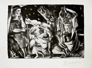 Blind Minotaur Led by Girl in Night Dove Limited Edition Litho Picasso-Vollard