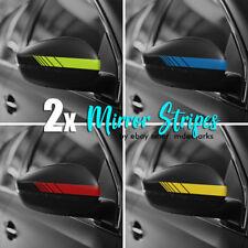 2pcs Car Mirror Stripe Decals / Stickers - VW - BMW - Honda  - Car Body Stickers