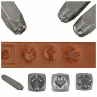 Steel Heart Cross Star Shape Metal Plastic Jewelry Clay Stamp Punch Tool Craft