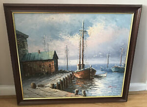 Nautical Oil Painting by Artist W. Hayward