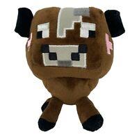 "Minecraft Mojang Brown Cow Plush Stuffed Animal Soft Toy 6"" Tall"