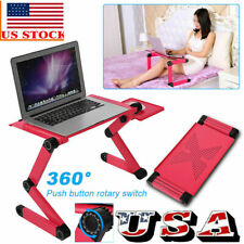 360° Adjustable Folding Fans Laptop Table Lap Desk Bed Computer Tray Stand US!