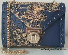 River Island Designer Navy Baroque  Embellished Small Cross Body Bag Gift