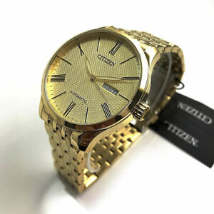 Men's Citizen Automatic Day and Date Display Goldtone Watch NH8352-53P