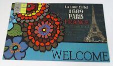 ZERBINO ingresso tappeto uscio casa 45x75 gommato antiscivolo Eiffel Parigi