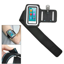 Sports Gym Jogging Black ArmBand Case for Apple iPod Nano 7 7th Generation W4X9