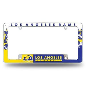 Los Angeles Rams Chrome ALL OVER Premium License Plate Frame Cover Truck Car