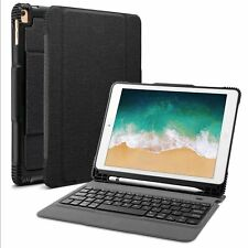 2018 Apple iPad Pro 9.7 Bluetooth Keyboard Case Rechargeable Battery Stand Cover