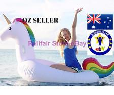 Full Size Inflatable Unicorn Pool Float-Giant Ride-on Rainbow Unicorn Floaties