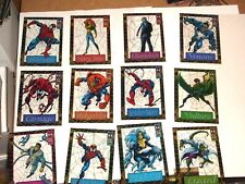 1994 MARVEL FLEER AMAZING SPIDERMAN 12 SUSPENDED ANIMATION INSERT CARD SET VENOM