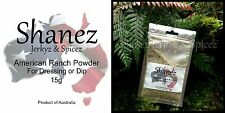 SHANEZ AMERICAN BUTTERMILK RANCH DRESSING DIP POWDER MIX~15g Made in Australia