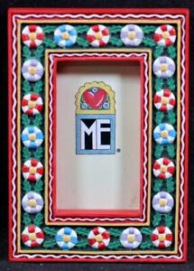 Mary Engelbreit Poly Stone Magnet Christmas Photo Frame. New/Old Stock! MG 51473