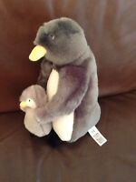 Marks And Spencer Penguin Soft Toy Plush Mum & Baby Comforter Teddy New M&S