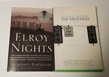 Set of 2 Paperback Novels by Frederick Barthelme : The Brothers & Elroy Nights