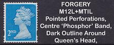 2012 Machin 2nd Class Blue SG U3013 FORGERY MI2L+MTIL Fine Used Stamp RARE