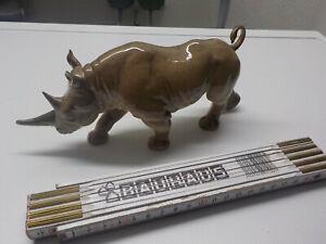 Goebel Porzellanfigur Porzellan Tierfigur Nashorn