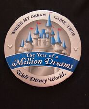 WDW The Year of a Million Dreams Where My Dream Came True Pin Button Castle