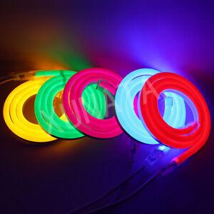 RGB Flexible Neon 220V 240V LED Light Glow EL Wire String Strip Rope Tube Lights
