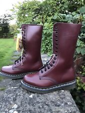 Dr Martens Doc Martens 14hole 1914 Cherry Red leather boots UK 3EU 36 Skinhead