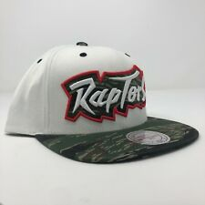 New Mitchell & Ness Toronto Raptors NBA Script Camo Adjustable Snapback Cap